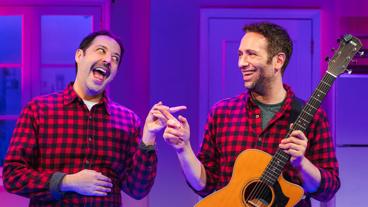 Steve Rosen as Josh Cohen and David Rossmer as Josh Cohen in The Other Josh Cohen.