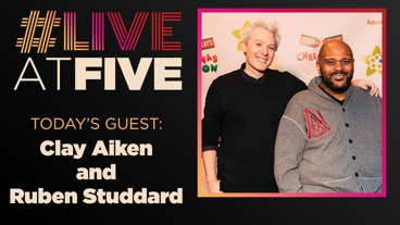Broadway.com #LiveatFive with Clay Aiken and Ruben Studdard of Ruben & Clay's Christmas Show