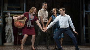 The cast of Merrily We Roll Along.
