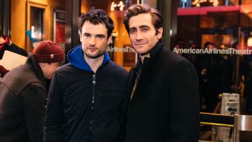 Sea Wall / A Life co-stars Tom Sturridge and Jake Gyllenhaal get together.