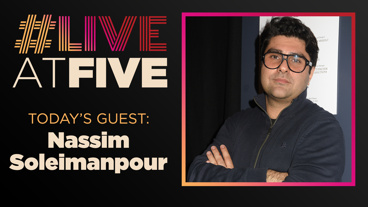 Broadway.com #LiveatFive with Nassim Soleimanpour of Nassim