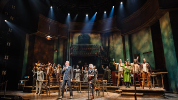 "The Hadestown cast and composer Anaïs Mitchell perform ""Why We Build the Wall."""
