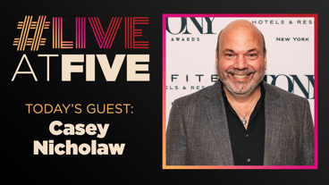 Broadway.com #LiveatFive with The Prom Director and Choreographer Casey Nicholaw
