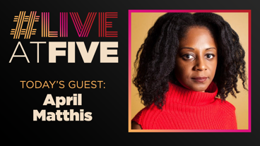 Broadway.com #LiveatFive with April Matthis of Toni Stone