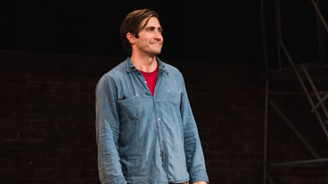 Sea Wall/A Life star Jake Gyllenhaal takes in the opening night applause.