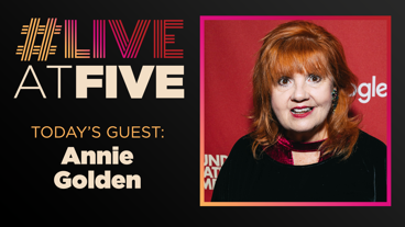 Broadway.com #LiveatFive with Annie Golden of Broadway Bounty Hunter