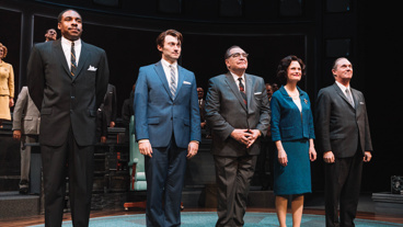 Congrats to the cast of The Great Society on a wonderful opening night! Grantham Coleman, Bryce Pinkham, Brian Cox, Barbara Garrick and Richard Thomas take a bow.