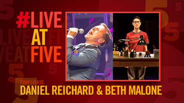 Broadway.com #LiveatFive with Daniel Reichard and Fun Home's Beth Malone