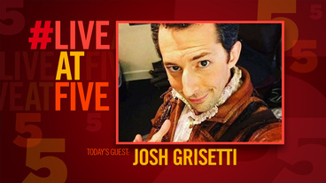 Broadway.com #LiveatFive with Josh Grisetti of Something Rotten!