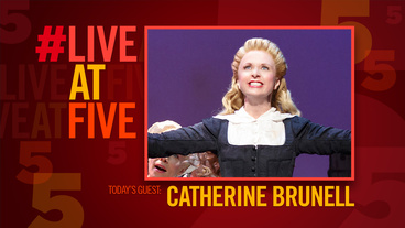 Broadway.com #LiveatFive with Catherine Brunell of Something Rotten!