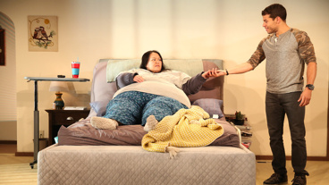 Carmen Herlihy as Samantha and Alex Hernandez as Dominick in Kingdom Come.