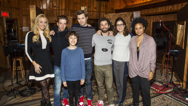 We can't wait to listen to this cast's powerful pipes on the upcoming album! Congrats to Betsy Wolfe, Christian Borle, Andrew Rannells, Brandon Uranowitz, Stephanie J. Block, Tracie Thoms and Anthony Rosenthal for recording Falsettos for the first time in its entirety. Catch the show at the Walter Kerr Theatre!