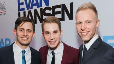 Dear Evan Hansen's music duo Benj Pasek and Justin Paul get together with the tuner's headliner Ben Platt.