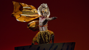 Jelani Remy as Simba in The Lion King.