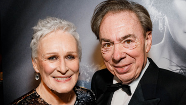 It's as if they never said good-bye! Sunset Boulevard's original Tony-winning leading lady Glenn Close and composer Andrew Lloyd Webber get together on opening night of the revival.