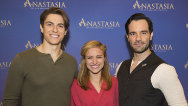 Anastasia's golden trio: Derek Klena, Christy Altomare and Ramin Karimloo.