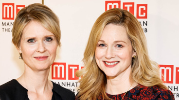 There's a lot of star power in this pair! The Little Foxes' Cynthia Nixon and Laura Linney pose for a pic.