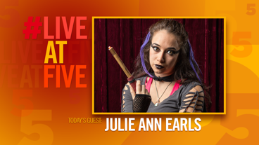 Broadway.com #LiveatFive with Julie Ann Earls of Puffs