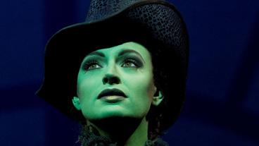 Jackie Burns as Elphaba in Wicked.