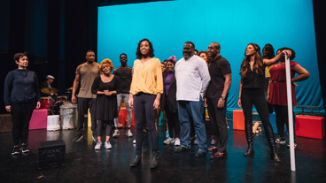 "This ""One Small Girl"" has a larger-than-life voice! Hailey Kilgore and the cast of Once on This Island have the floor."