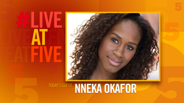 Broadway.com #LiveatFive with Nneka Okafor of Too Heavy For Your Pocket