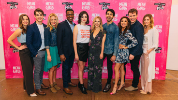 The gang's all here! Mean Girls' Erika Henningsen, Kyle Selig, Kate Rockwell, Rick Younger, Barrett Wilbert Weed, Kerry Butler, Cheech Manohar, Ashley Park, Grey Henson and Taylor Louderman take a group shot.