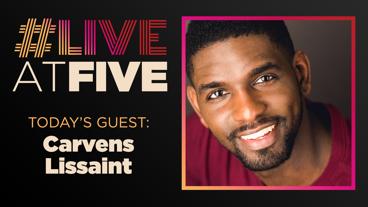 Broadway.com #LiveatFive with Carvens Lissaint of Hamilton