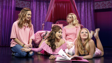Erika Henningsen as Cady, Ashley Park as Gretchen, Taylor Louderman as Regina and Kate Rockwell as Karen in Mean Girls. Mean Girls.