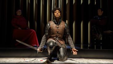 Condola Rashad as Joan in Saint Joan.