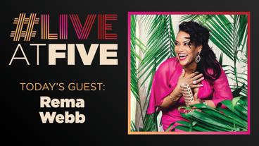 Broadway.com #LiveatFive with Rema Webb of Escape of Margaritaville