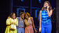 Amber Riley as Effie White, Tyrone Huntley as C.C. White, Ibinabo Jack as Lorrell Robinson and Liisi LaFontaine as Deena Jones in Dreamgirls.