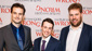 They clean up nice! The Play That Goes Wrong's writers and stars Henry Shields, Jonathan Sayer and Henry Lewis snap a photo for their Broadway opening.