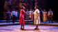 Carla R. Stewart (Shug Avery), Adrianna Hicks (Celie) & the North American tour cast of The Color Purple, photo by Matthew Murphy